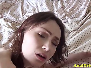 Glamorous exgf anally fucked by large shlong