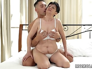 Nasty Granny still with bated breath for younger dicks