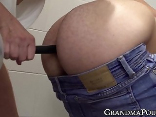 Frying granny toys their way nice fuckers arse in the lead sensual humped