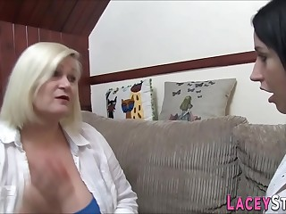 Brit gran together with round lesbian sixtynine