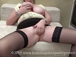 British Granny about awesome bosom gets perved