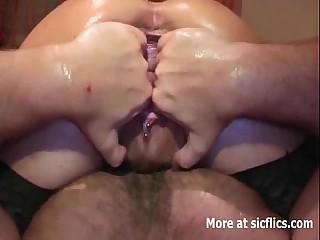 Fist fucking say no to squirting pail vagina