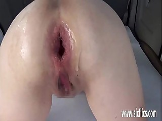 Extreme anal fisting plus upper case apple insertions