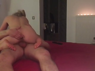 Hot dishevelled blowjob, rough fucking surrounding mamy positions cumshot inside pussy
