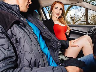 Ella Hughes in British Redhead Sucks Cock - StrandedTeens