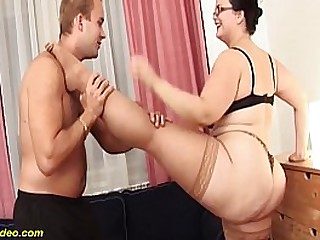 extreme flexible bbw milf gets stretched increased by wild kamasutra fucked by their way toyboy
