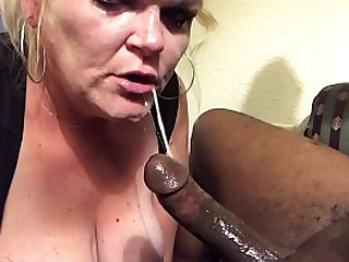 Be in charge Blonde Curvy MILF Extreme Deepthroat Of BBC
