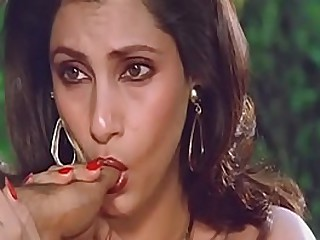Titillating Indian Be conducive to Dimple Kapadia Sucking Thumb licentiously Like Cock