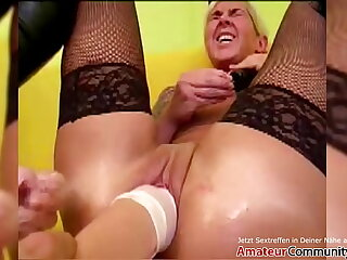 Filthy broad gets say no to cunt fisted & stretched! AMATEURCOMMUNITY.XXX