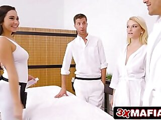 Super Hot Masseuse Karlee Grey Screwing Lucky Dude While His Wife Is s.