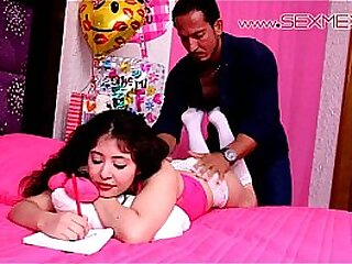 Young learn of persiflage virgin gets usurped by a hung black from involving her own bed! LIL SLUT!